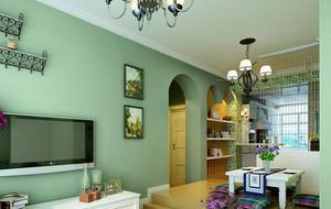 客厅简约风格隔断装饰
