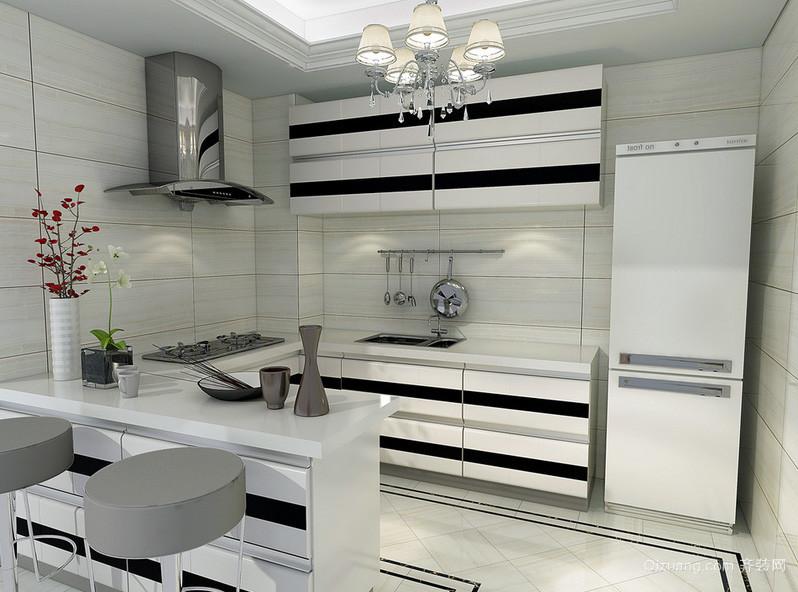 时尚青春单身公寓厨房装修设计效果图