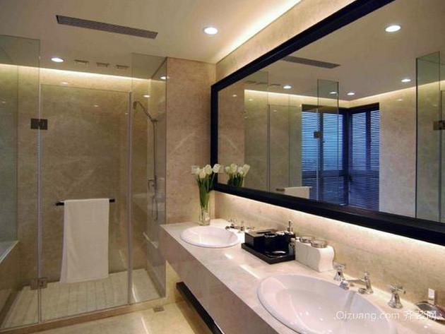 独栋别墅现代简约风格干湿分离卫生间装修