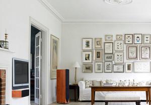 北欧风格简洁客厅照片墙装修效果图