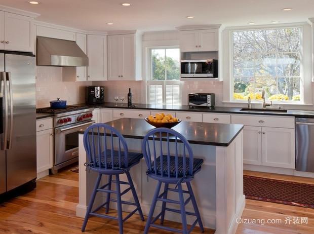 复式楼欧式简约风格整体厨房装修效果图