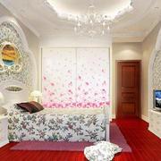 韩式风格清新卧室壁纸设计