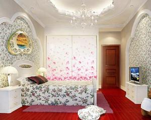 30平米韩式风格家装卧室壁纸装修效果图