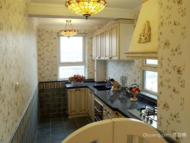 120平米复式楼简约地中海风格厨房装修图