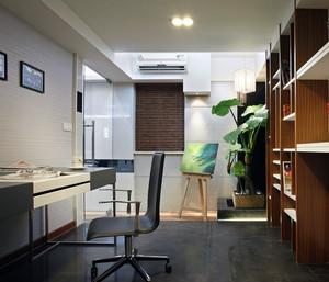 80平米小户型精美的现代书房吊顶装修效果图
