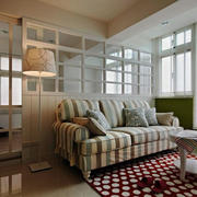 北欧风格50平米一居室公寓装修效果图