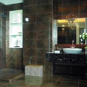 6平米现代卫生间仿古砖贴图展示