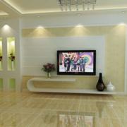 2016唯美欧式大户型客厅电视背景墙装修效果图