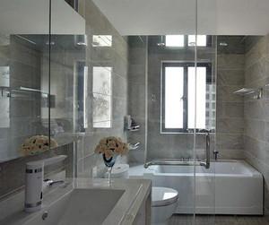 20平米现代简约风格卫生间瓷砖装修效果图