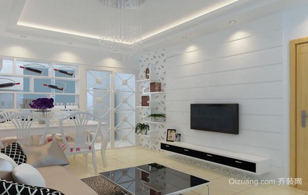 2016欧式精致的现代小户型客厅装修实例欣赏