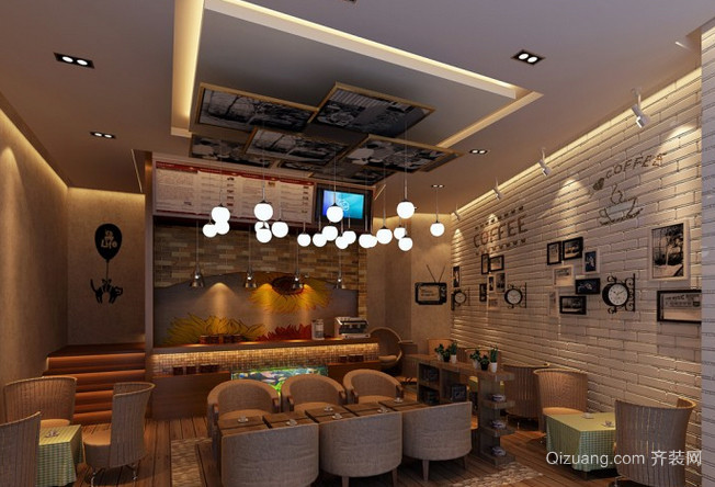2016时尚风格咖啡店装修效果图