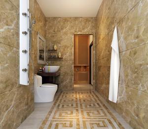 现代时尚家居小卫生间墙贴装修图片
