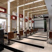 70平米后现代风格理发店装修效果图