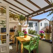 28平米简约小户型宜家阳台装修设计效果图