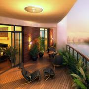 现代阳台吊顶设计