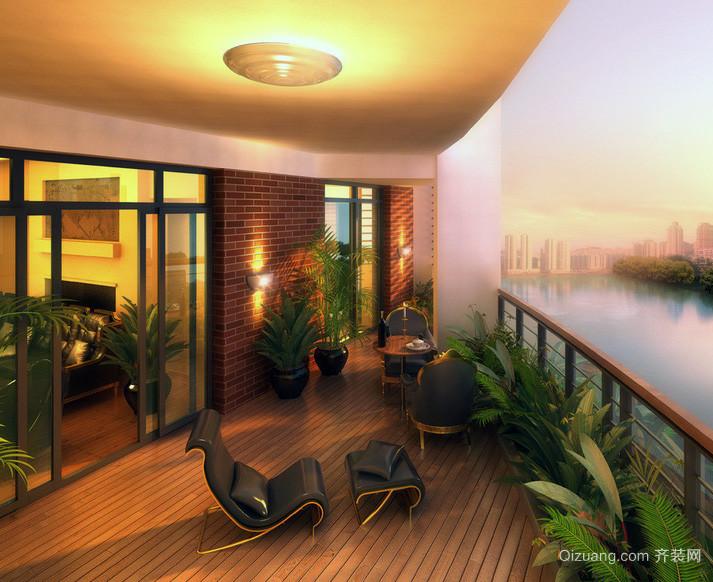 2016唯美独特的现代欧式别墅别墅装修效果图无线分布图阳台图片