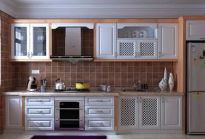 时尚三居室一字型橱柜设计效果图