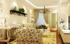 韩式清新客厅沙发装饰