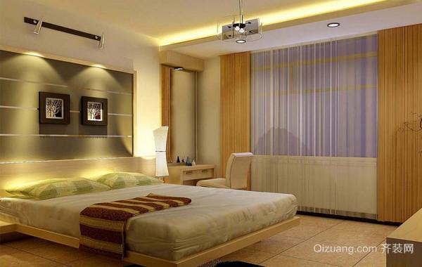 90平米大户型欧式卧室床头背景墙装修效果图鉴赏