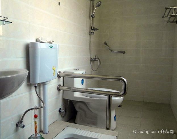 老年公寓现代简约风格卫生间装修效果图