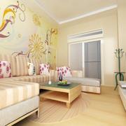 温馨浅色调50平米房子客厅装修效果图