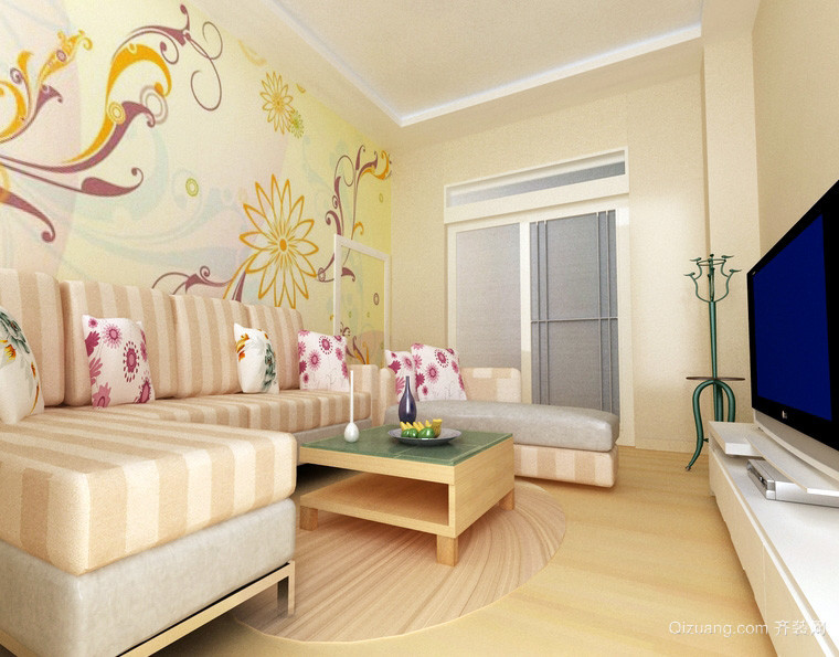 儒雅新中式100平米房子客厅装修效果图