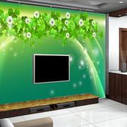 绿色四叶草两居室客厅电视背景效果图片