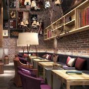 闲暇时光:60平米欧式风格小咖啡馆装修图