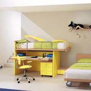小户型简约风格卧室双人床装饰