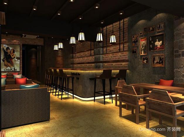 70平米美式简约风格咖啡馆装修效果图