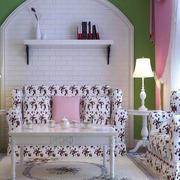 韩式客厅石膏板背景墙装饰