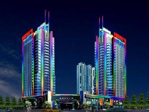 都市大厦彩色led灯带装修效果图