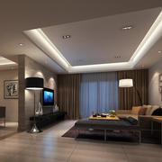 温馨209平米客厅吊顶led灯带装修效果图