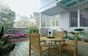 10平米宽敞型阳台装修效果图