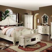 大型洋房欧式风格白色系卧室床饰家具装修效果图