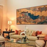 现代中式风格小户型客厅装修效果图