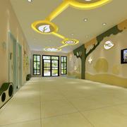 大户型都市幼儿园走廊壁画设计效果图