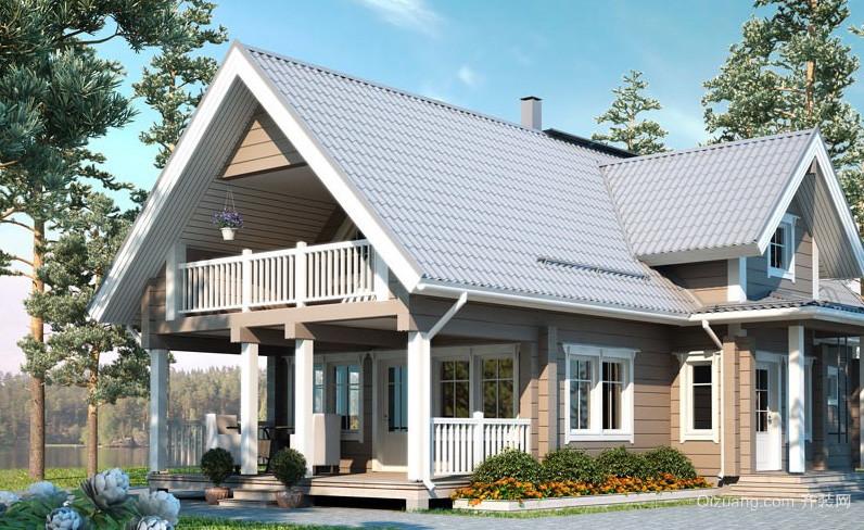 大气前卫现代小木屋别墅设计效果图