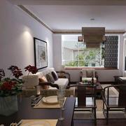 新中式简约风格客厅窗户装饰