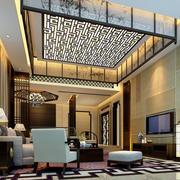 中式500平米别墅客厅装修效果图