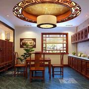中式古典两居室老年公寓餐厅装修图