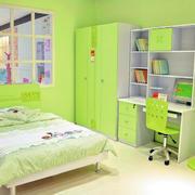 绿色89平米家居儿童房背景装修图片