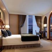 欧式简约风格酒店电视背景墙装饰