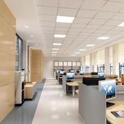 现代化办公楼密集式吊顶