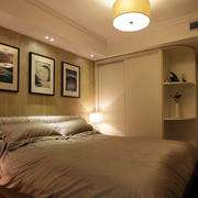 卧室整体式实木柜子装饰