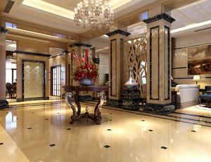 180平米欧式简约风格客厅玄关隔断装修图