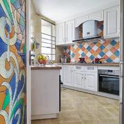 2016美式唯美大户型家庭厨房装修效果图