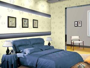 30平米欧式简约风格卧室液体壁纸装修效果图