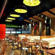 100平米欧式简约风格咖啡馆装修效果图