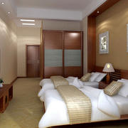 30平米中式简约风格老人公寓卧室装饰